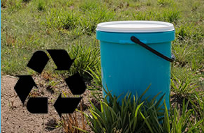 Recycled plastic buckets